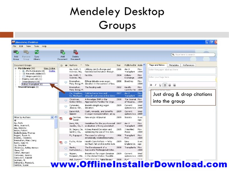 Mendeley Desktop Direct Link download