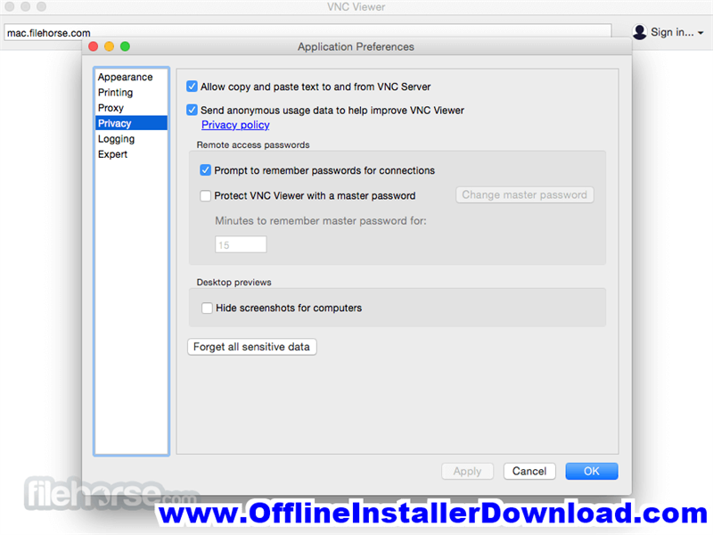 VNC for Mac Internet Remote Tools for Mac