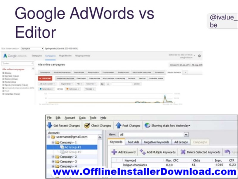 Google AdWords Editor Full version Download
