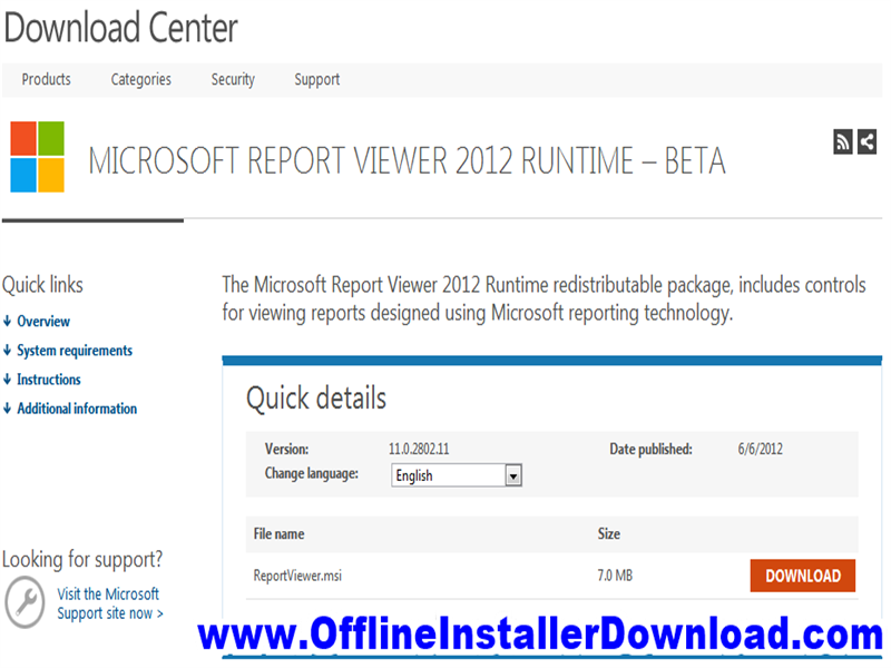 Microsoft Report Viewer Redistributable Download for Windows