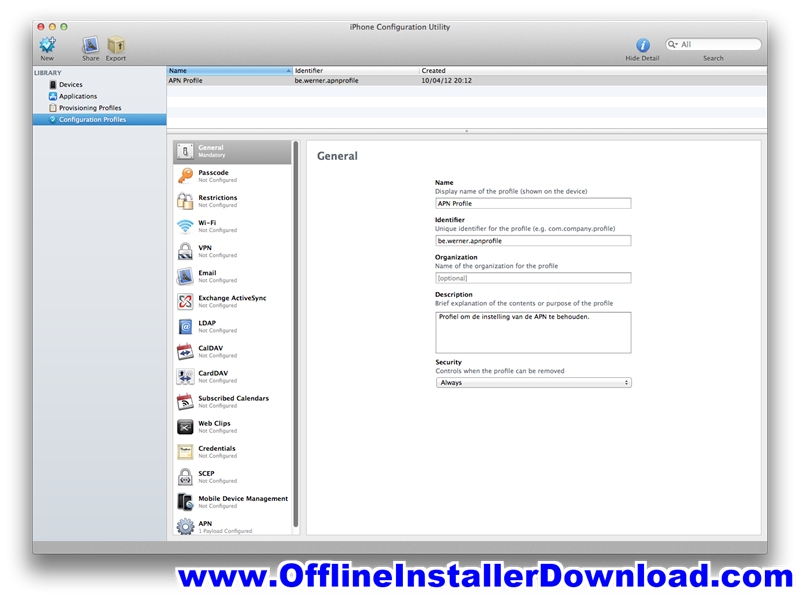 iPhone Configuration Utility Download for Windows